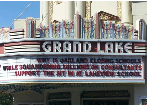 The Grand Lake Theater Supports the Lakeview Sit-In!
